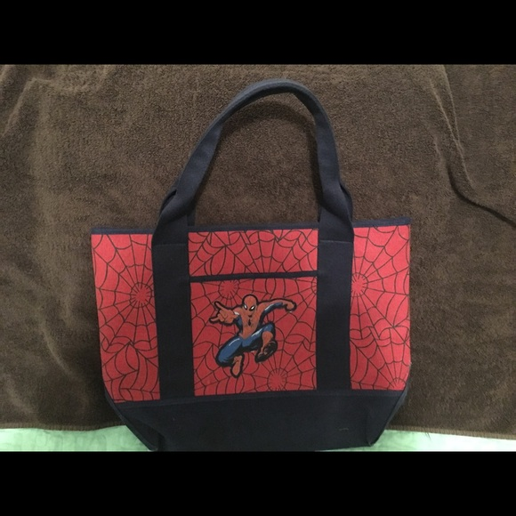 Pottery Barn Kids Other - Pottery Barn Kids Spider-Man Canvas Tote